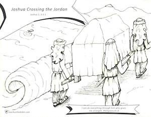 Joshua Crossing The Jordan Coloring Sheet