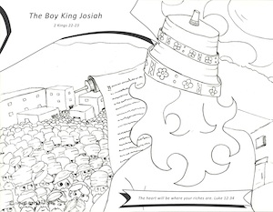 Boy King Josiah Coloring Sheet