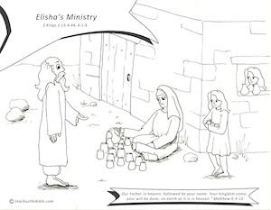 Elishas Ministry Coloring Sheet