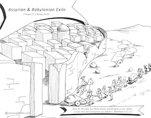 City Of Judah Babylonian Captivity Coloring Page