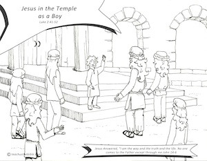 88 coloring page jesus teaching in the temple after for Jesus as a boy in the temple coloring page