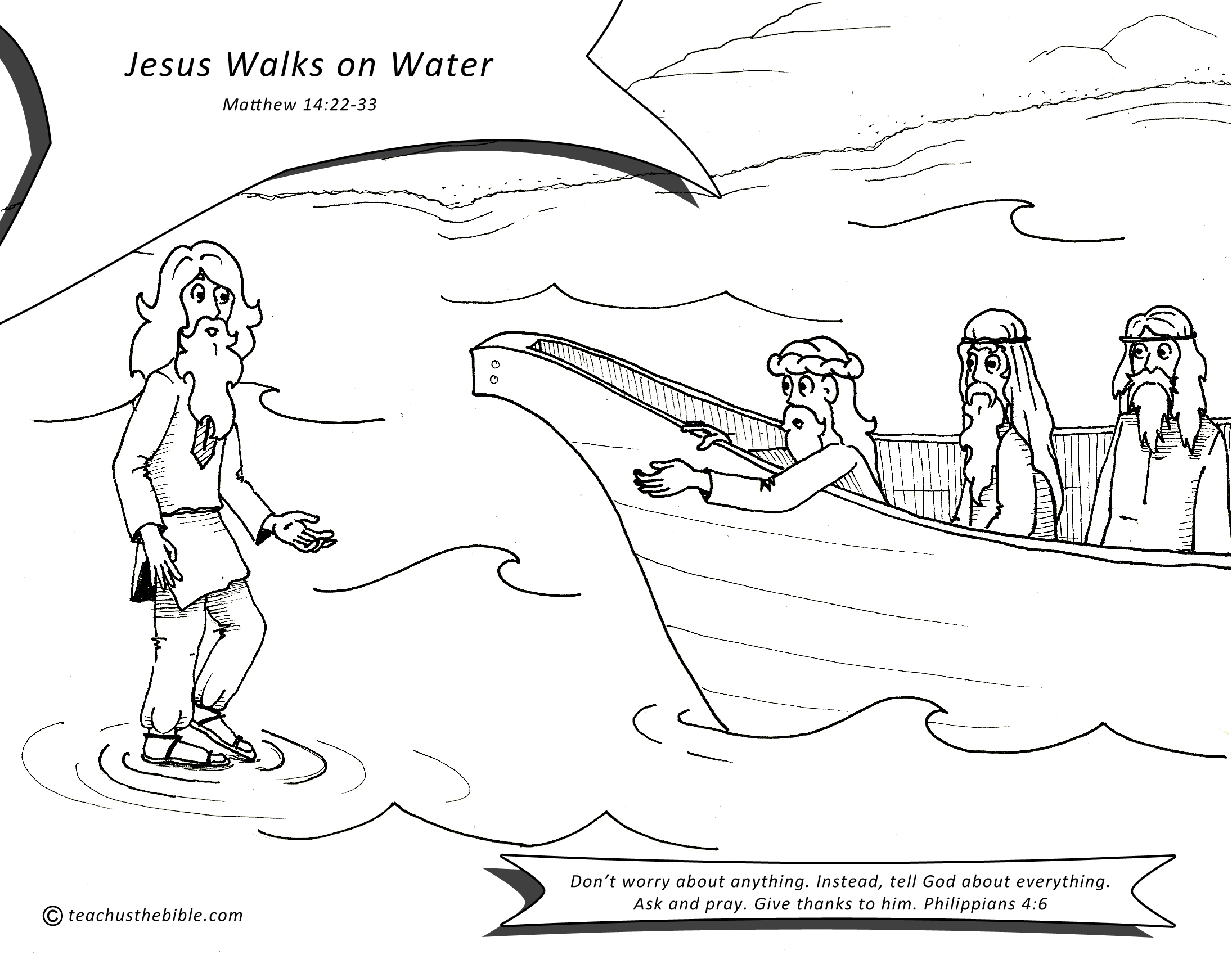 Inspirational Design 22 Jesus Walks On Water Coloring Page