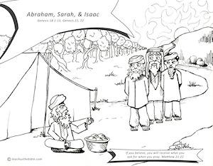 abraham and sarah coloring page - abraham sarah isaac teach us the bible