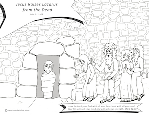 Jesus Raises Lazarus From The Dead Teach Us The Bible