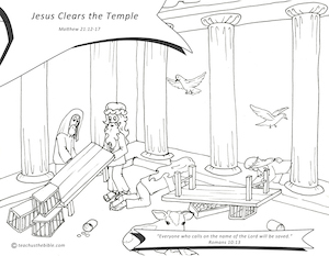 Jesus Cleansing the Temple (Coloring Page) – LaymansBookstore.com ... | 233x300