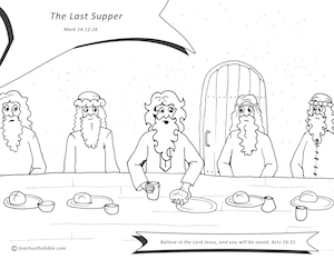 The Last Supper Coloring Sheet
