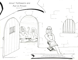 Jesus Before Caiaphas Trial coloring page | Free Printable ... | 233x300