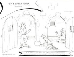 Resource Sheet Paul Silas In Prison Coloring