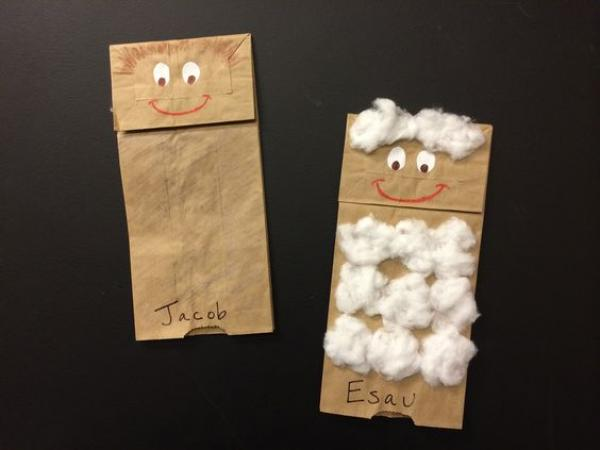 Jacob and Esau Puppets Example